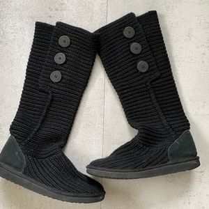 Ugg Classic Cardy Knit Boots Black Size 8